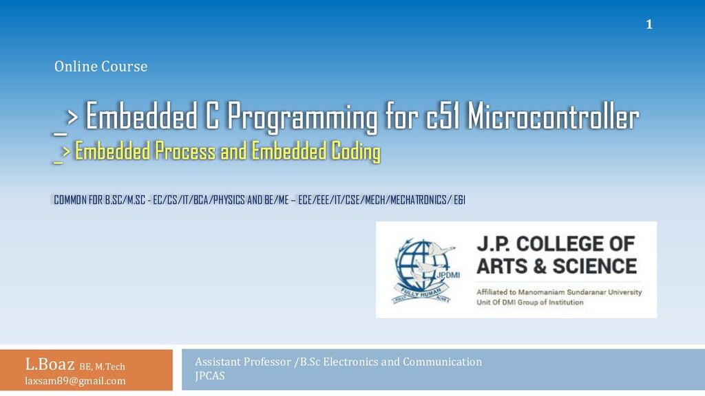 COMMON FOR B.SC/M.SC - EC/CS/IT/BCA/PHYSICS AND...