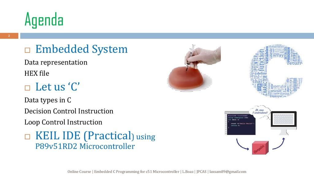 Agenda  Embedded System Data representation HE...