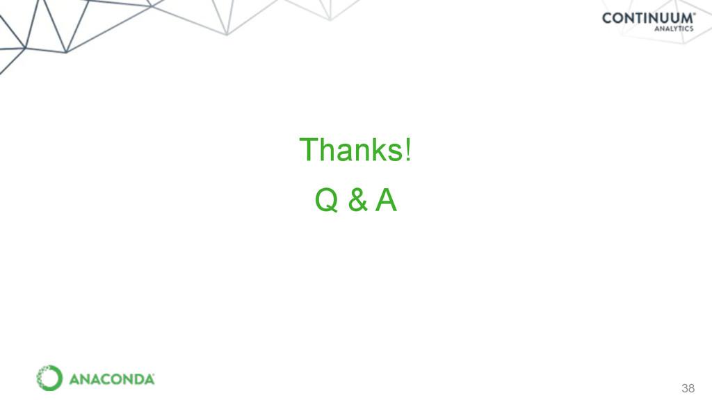 38 Q & A Thanks!