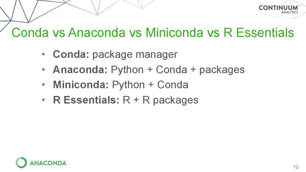 10 Conda vs Anaconda vs Miniconda vs R Essentia...