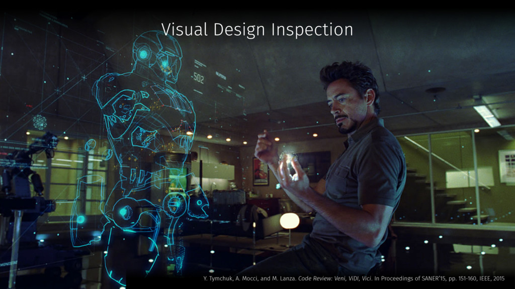 Visual Design Inspection Y. Tymchuk, A. Mocci, ...