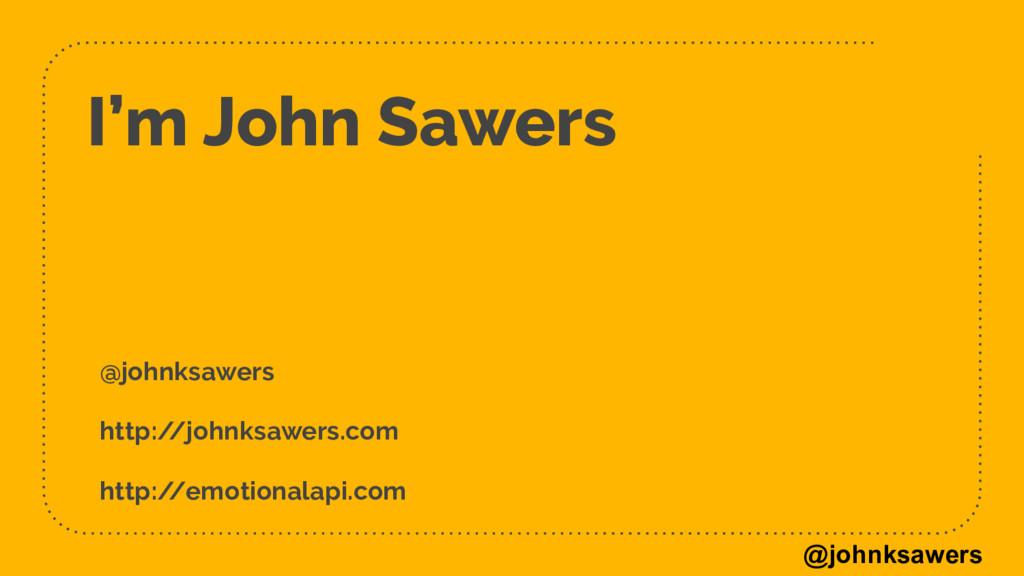 @johnksawers I'm John Sawers @johnksawers http:...