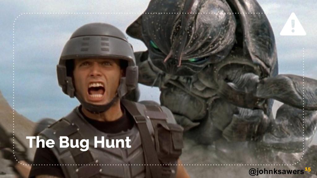 @johnksawers The Bug Hunt 15