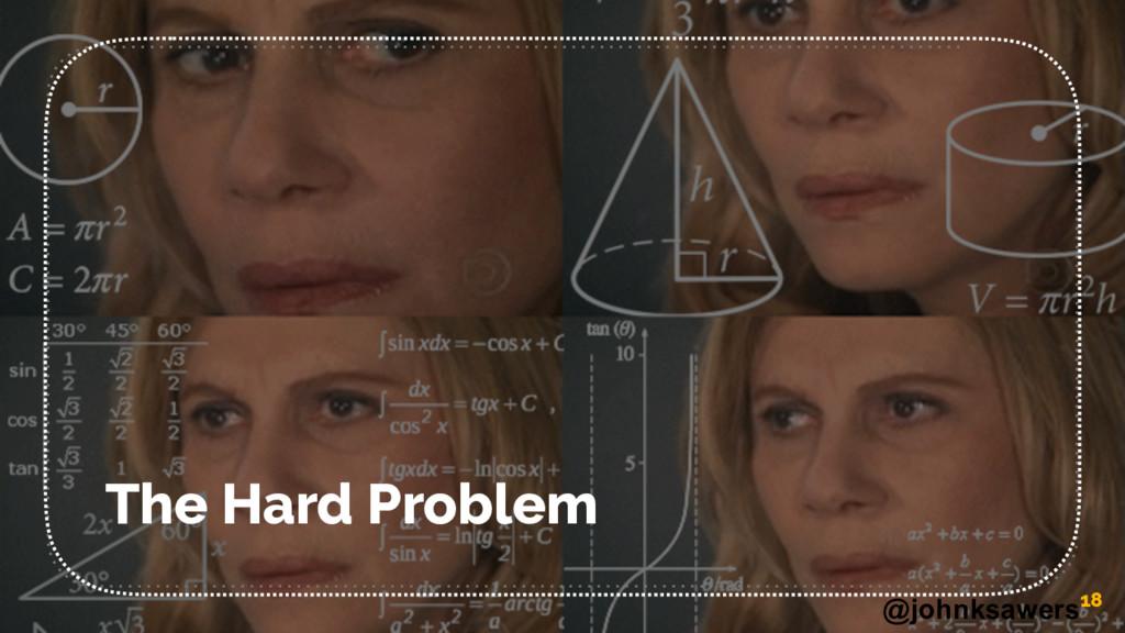 @johnksawers The Hard Problem 18