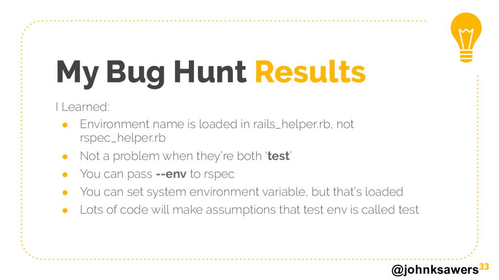 @johnksawers My Bug Hunt Results 33 I Learned: ...