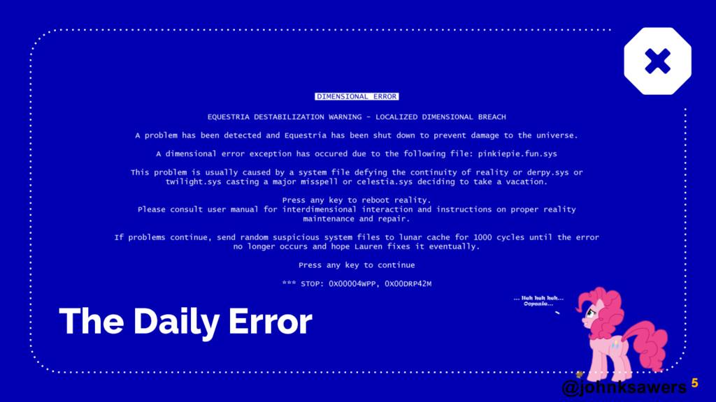 @johnksawers The Daily Error 5