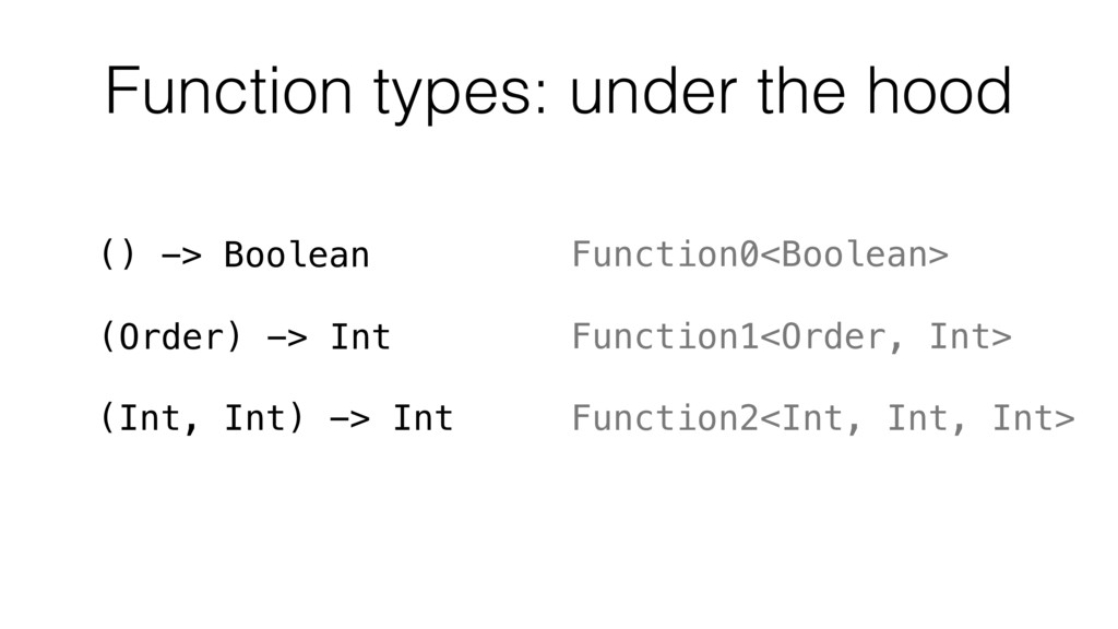 Function types: under the hood () -> Boolean Fu...