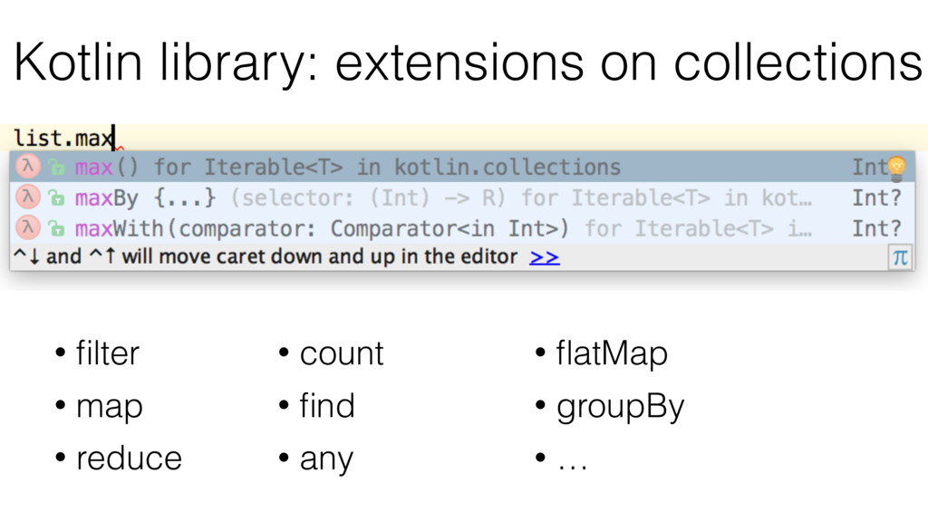 Kotlin library: extensions on collections • filt...