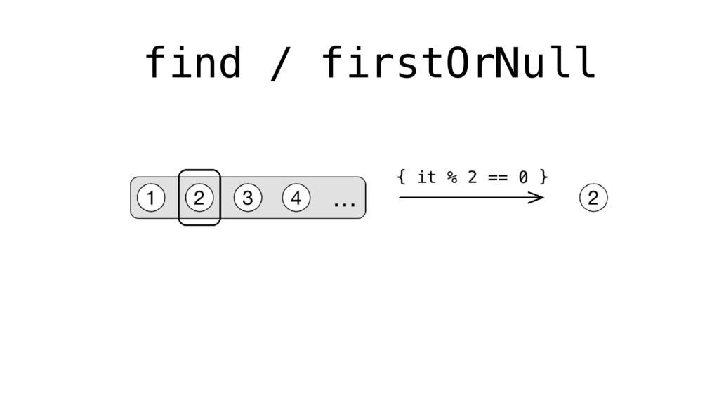 find / firstOrNull