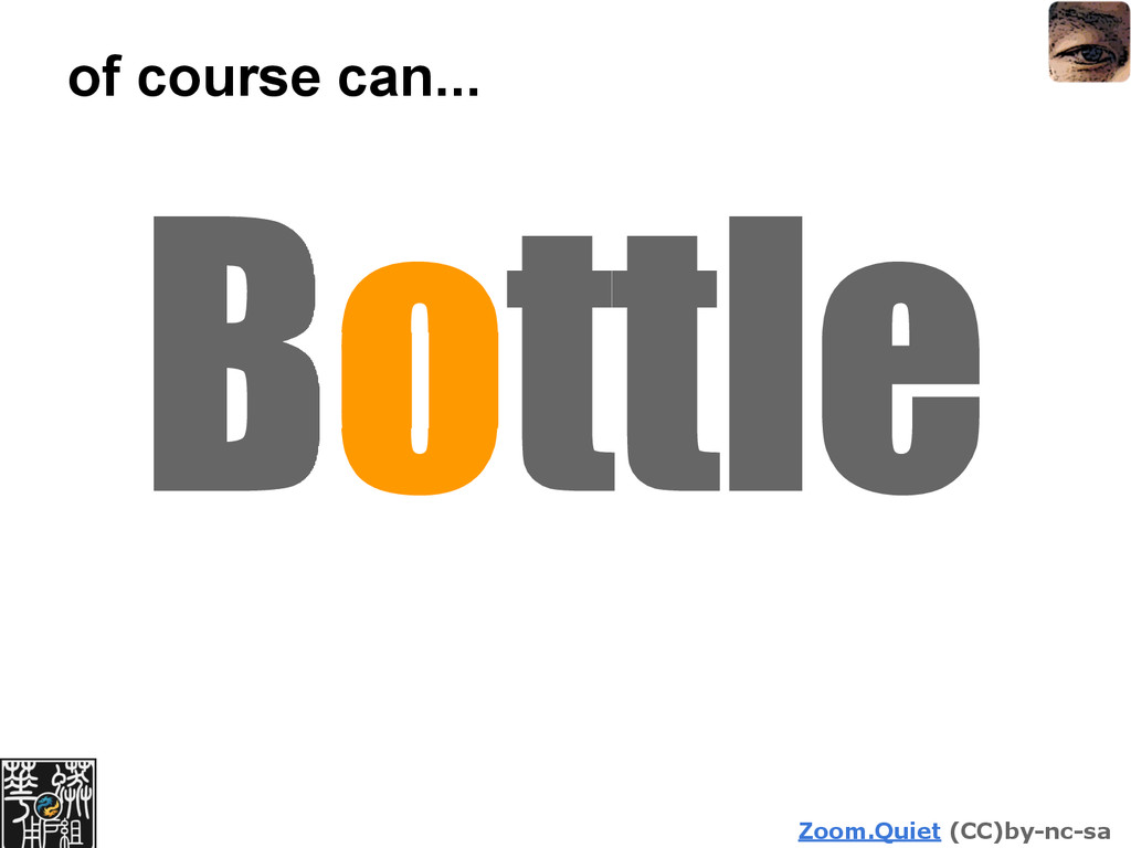 Zoom.Quiet (CC)by-nc-sa of course can... Bottle