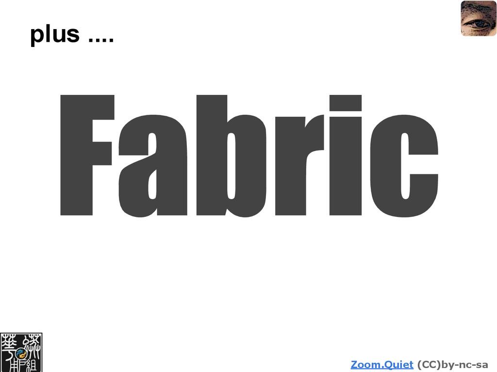 Zoom.Quiet (CC)by-nc-sa plus .... Fabric