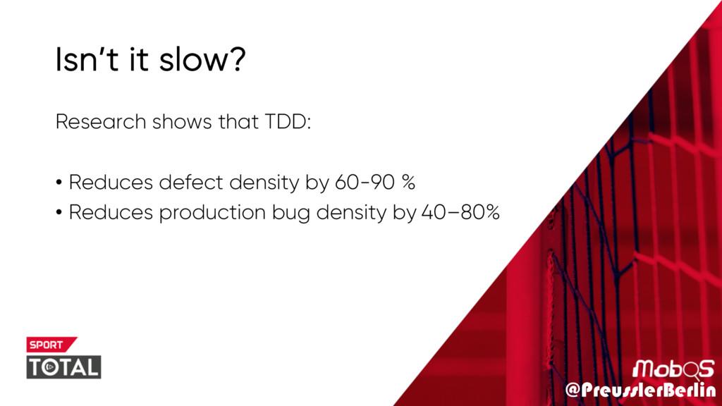 @PreusslerBerlin Isn't it slow? Research shows ...