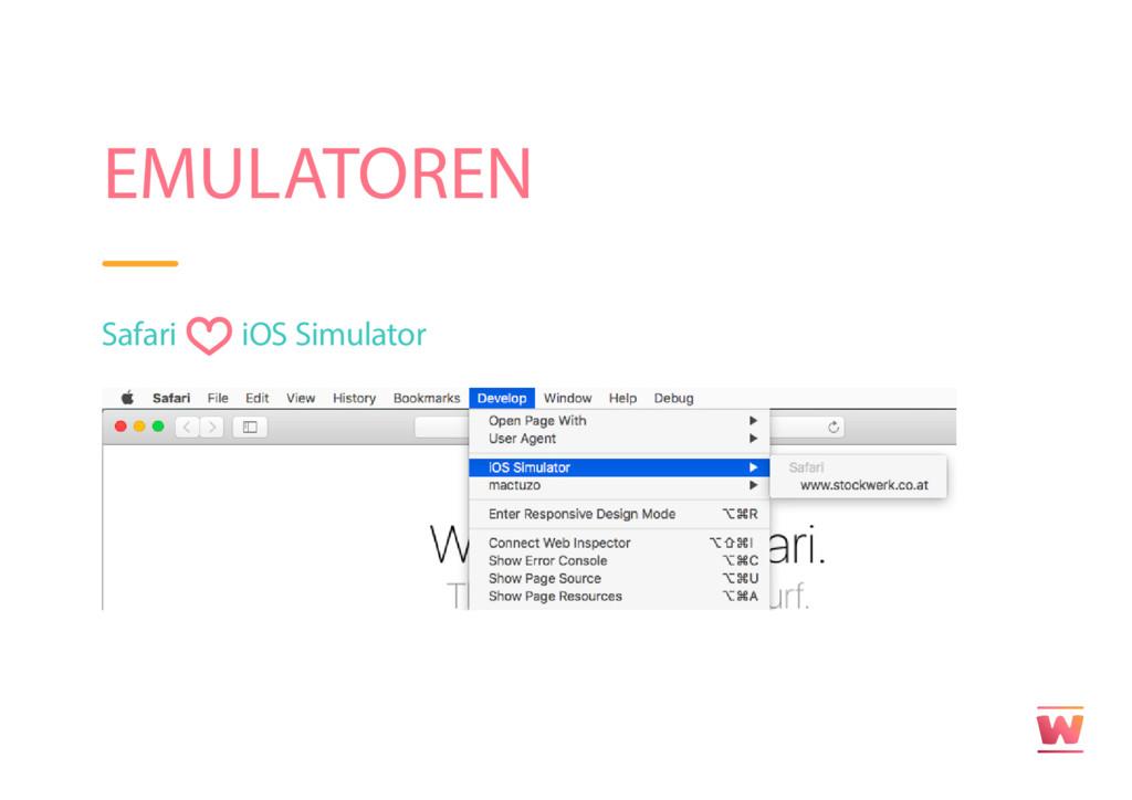 EMULATOREN Safari iOS Simulator