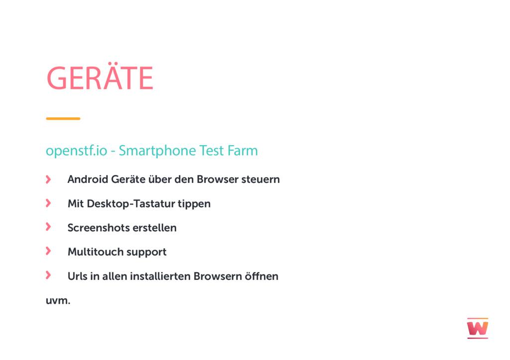 GERÄTE openstf.io - Smartphone Test Farm Androi...