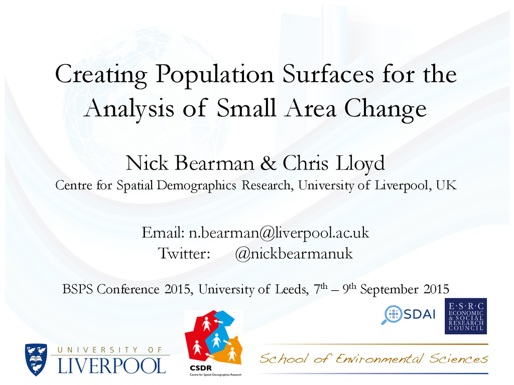 Creating Population Surfaces for the Analysis o...