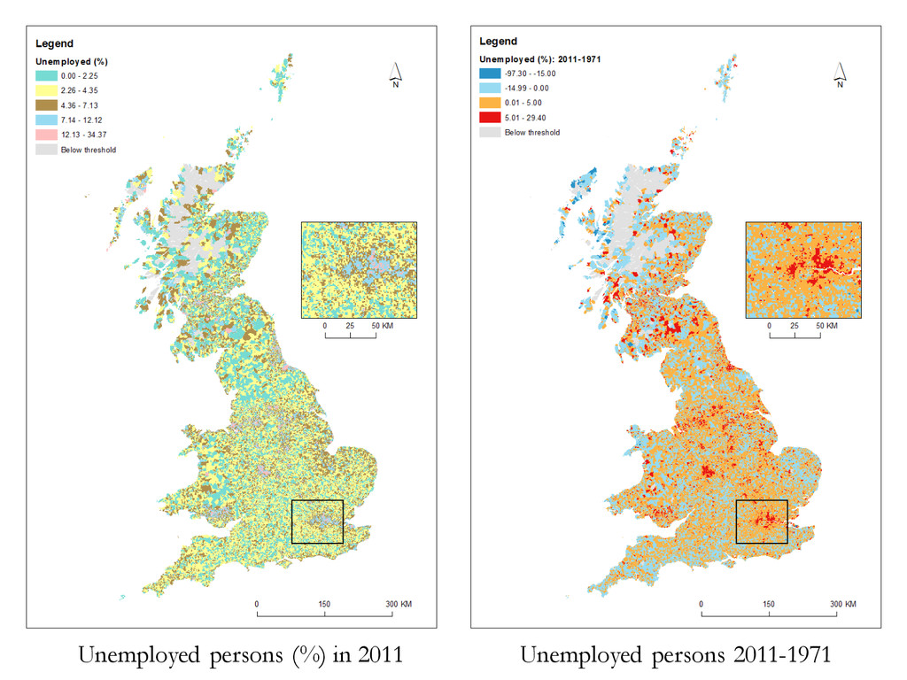 Unemployed persons (%) in 2011 Unemployed perso...
