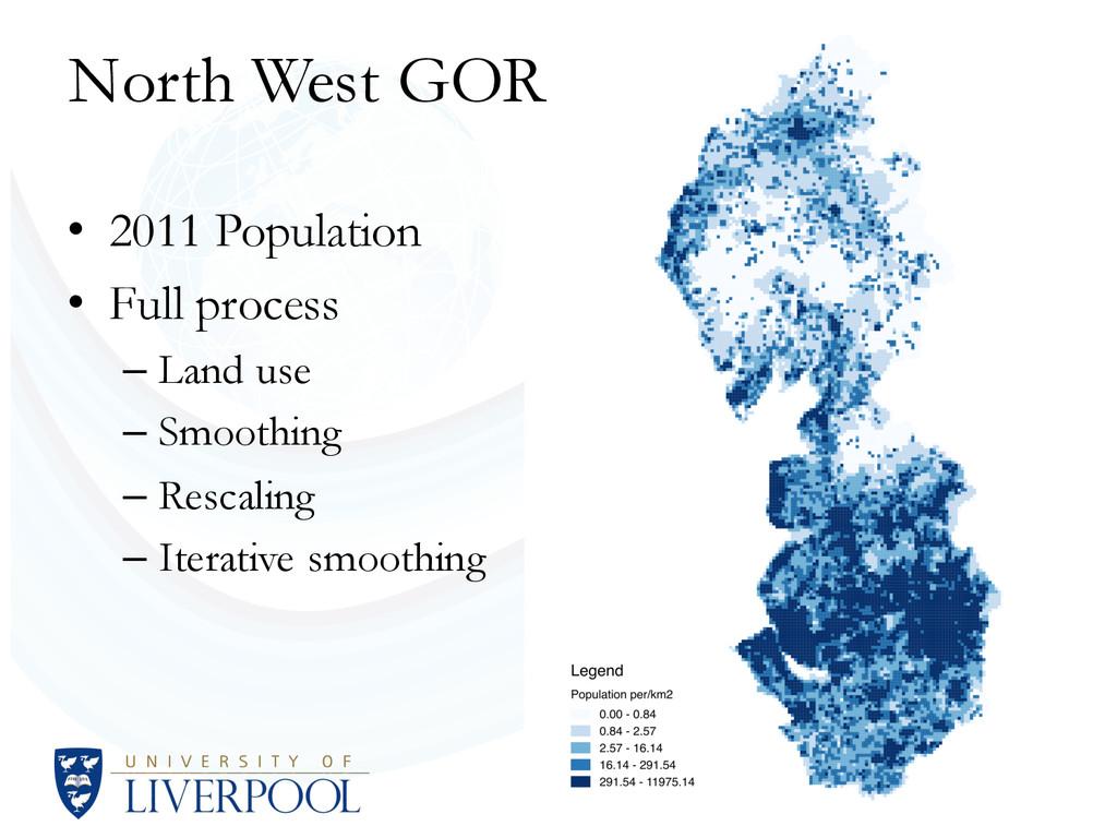 • 2011 Population • Full process – Land use – S...