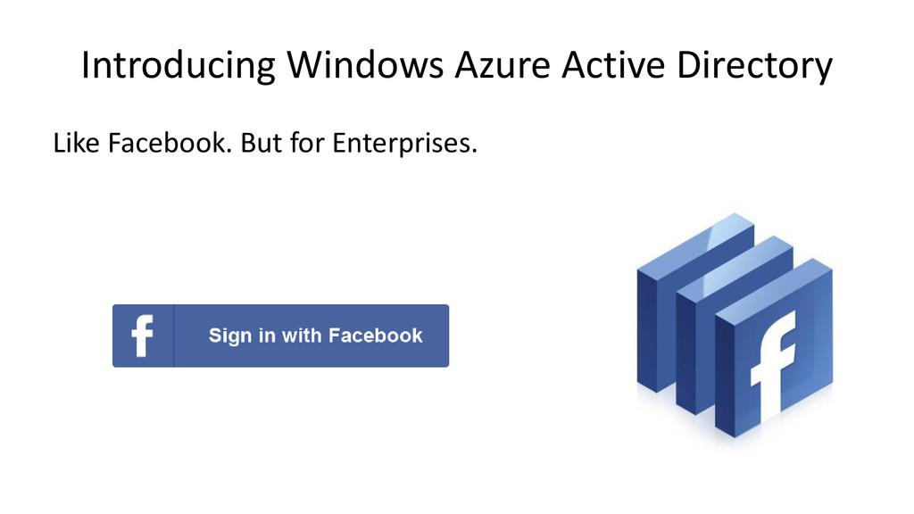 Introducing Windows Azure Active Directory Like...
