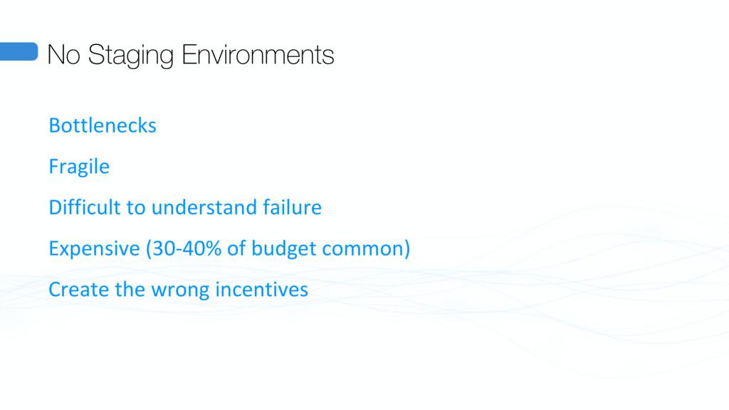 No Staging Environments Bottlenecks Fragile Dif...