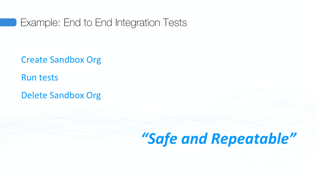 Example: End to End Integration Tests Create Sa...