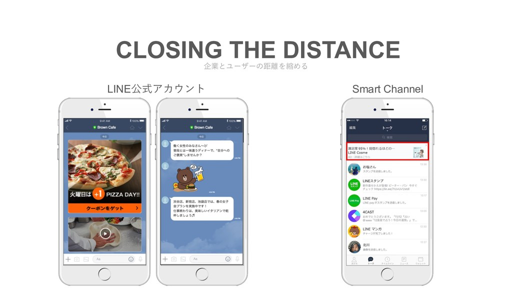 CLOSING THE DISTANCE LINE公式アカウント Smart Channel ...
