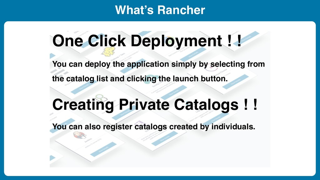 What's Rancher One Click Deployment ! ! Creatin...