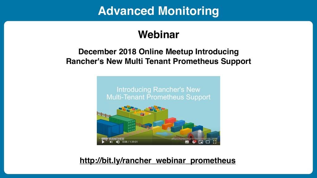 December 2018 Online Meetup Introducing Rancher...