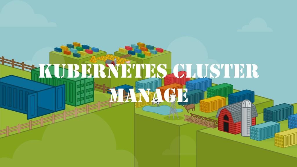 KUBERNETES CLUSTER MANAGE