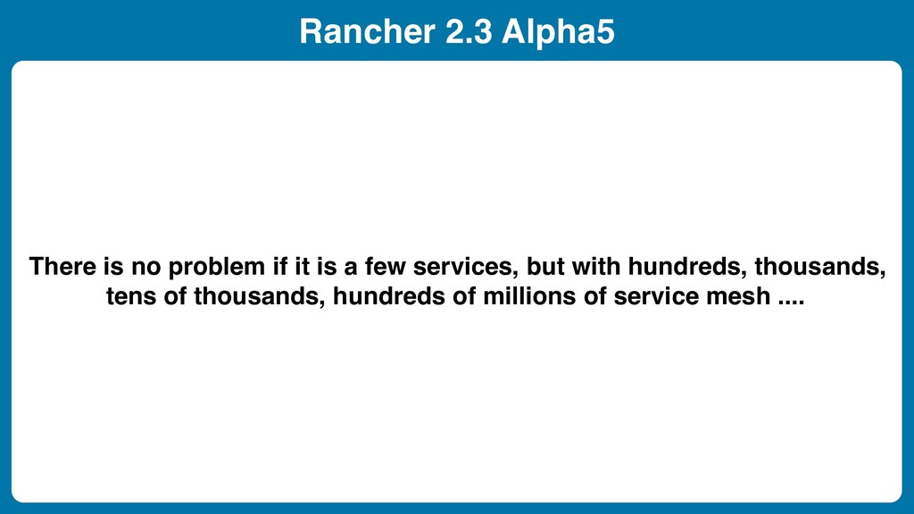 Rancher 2.3 Alpha5 There is no problem if it is...