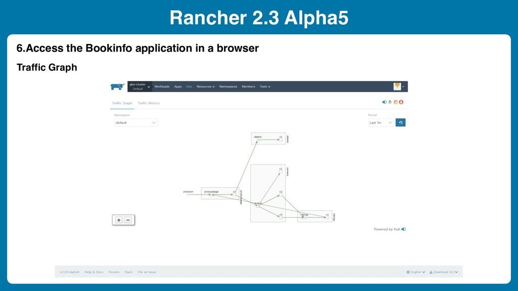 Rancher 2.3 Alpha5 6.Access the Bookinfo applic...