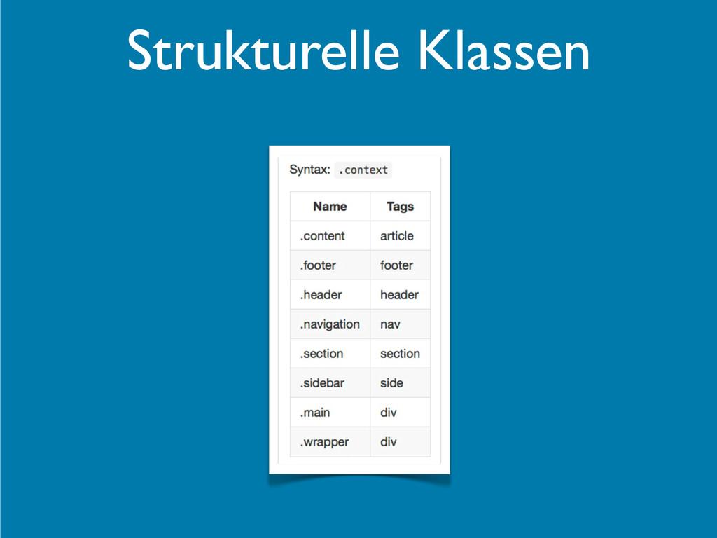 Strukturelle Klassen