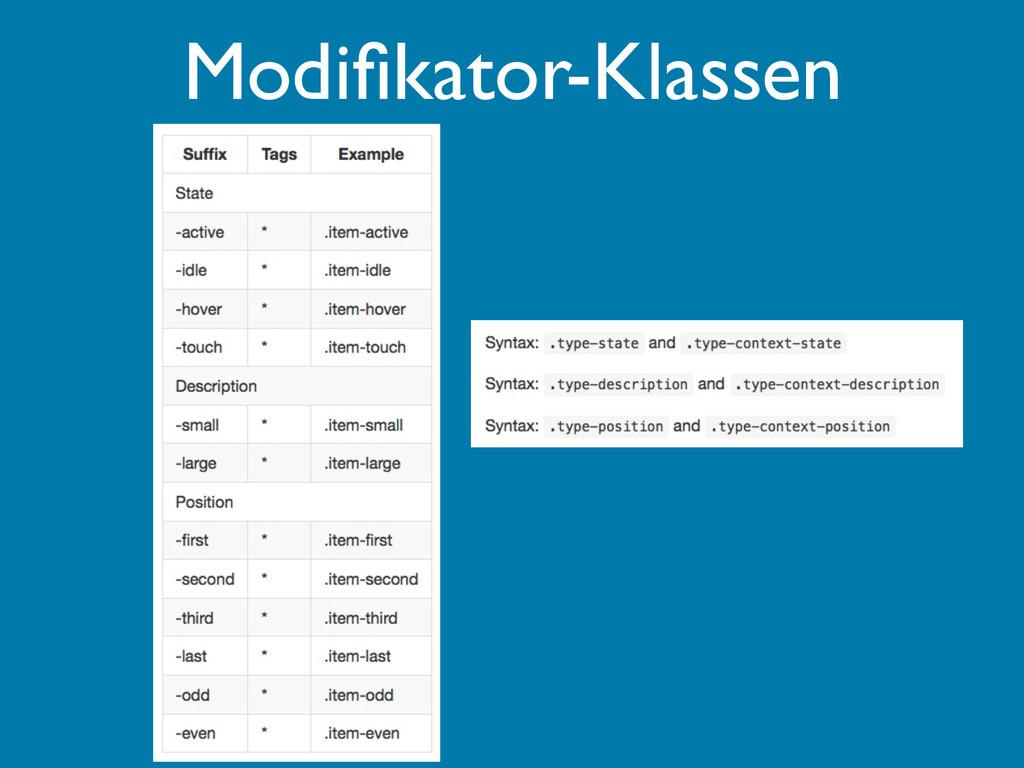Modifikator-Klassen