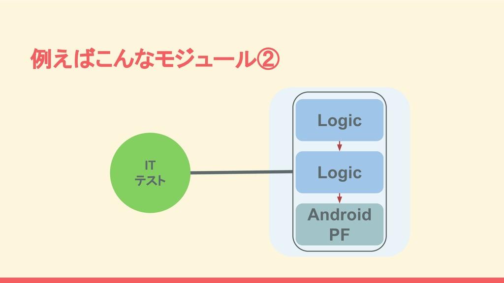 Logic Logic Android PF 例えばこんなモジュール② IT テスト