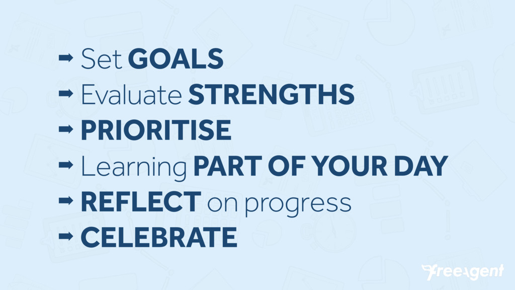 ➡ Set GOALS ➡ Evaluate STRENGTHS ➡ PRIORITISE ➡...