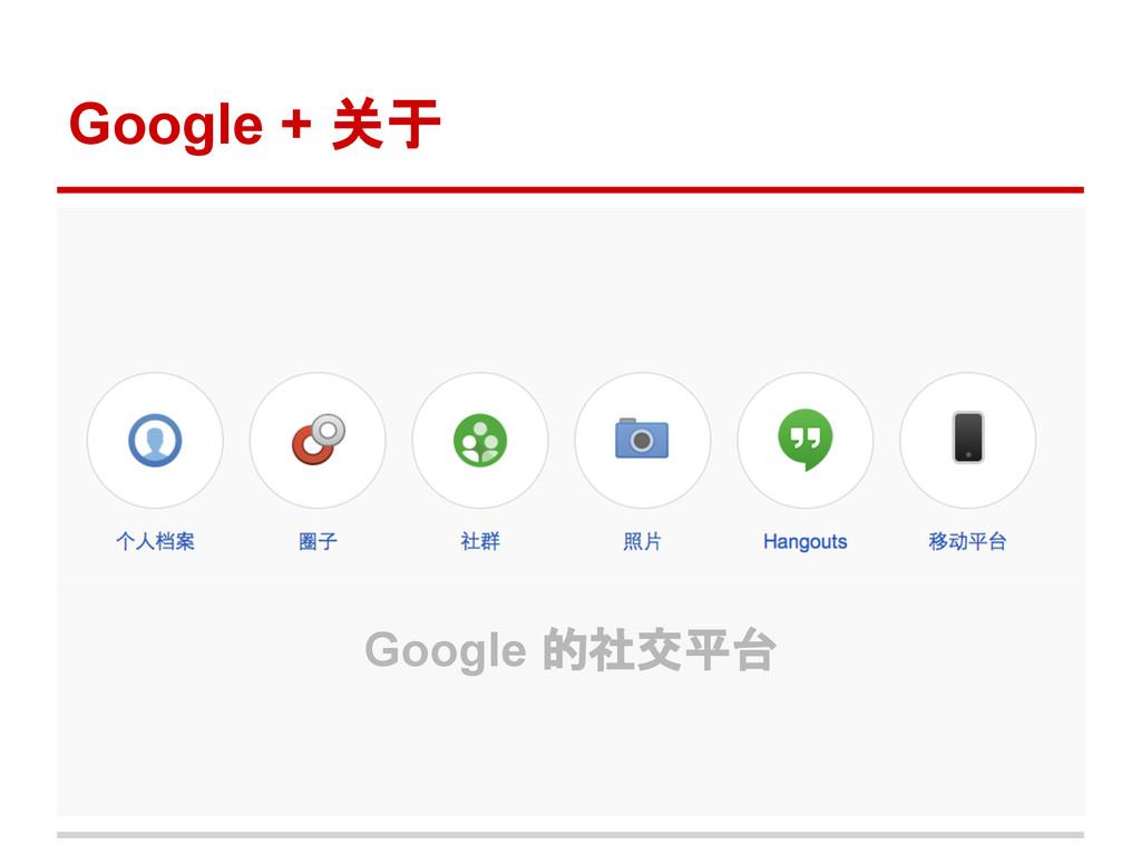 Google + 关于 Google 的社交平台