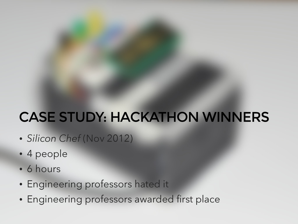 CASE STUDY: HACKATHON WINNERS • Silicon Chef (N...