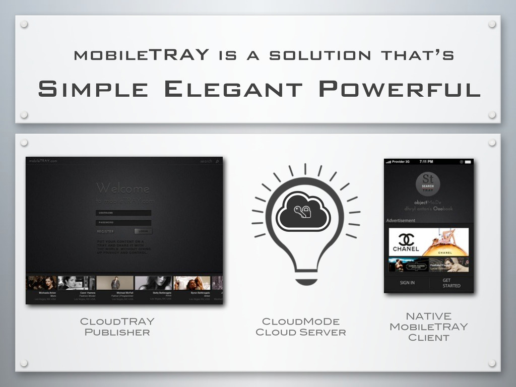Simple Elegant Powerful mobileTRAY is a solutio...