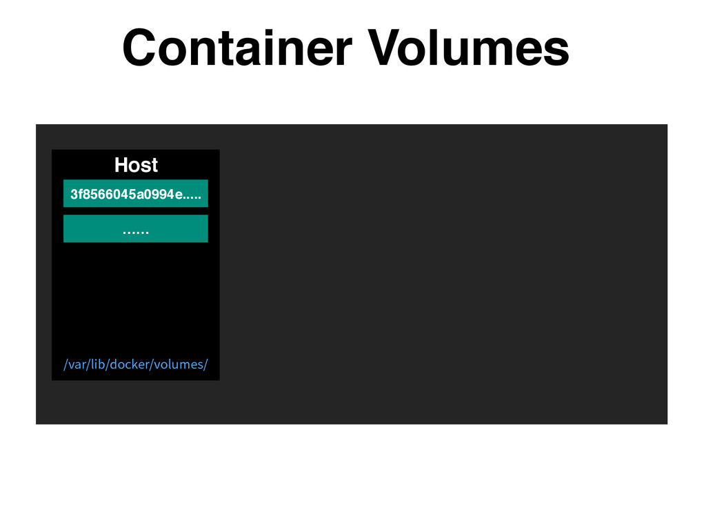 Container Volumes Host …… 3f8566045a0994e..... ...