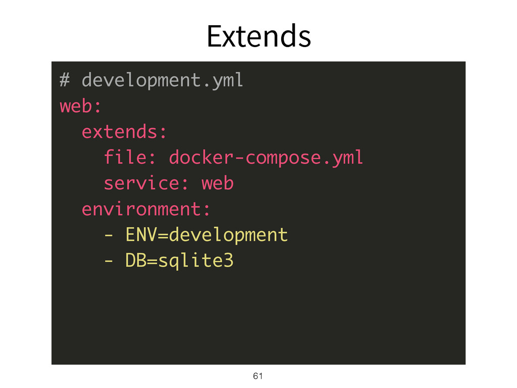&YUFOET 61 # development.yml web: extends: file...