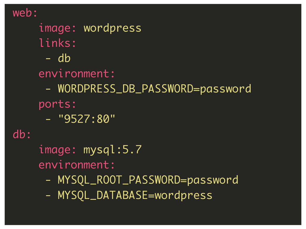 69 web: image: wordpress links: - db environmen...