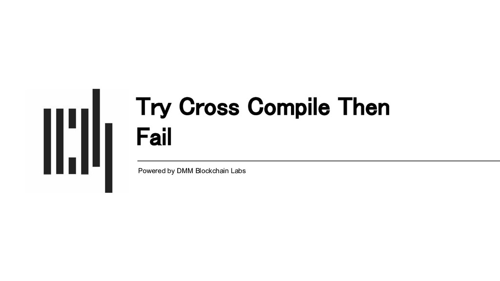 Try Cross Compile Then Fail