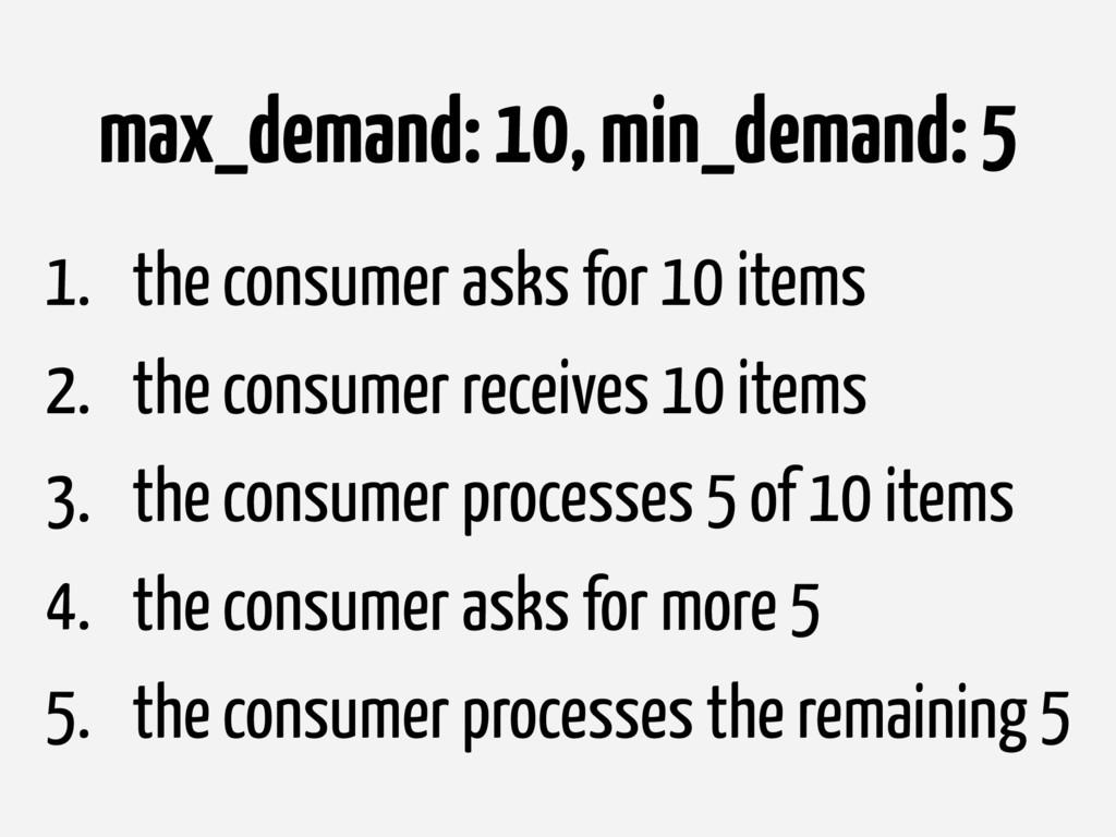 max_demand: 10, min_demand: 5 1. the consumer a...