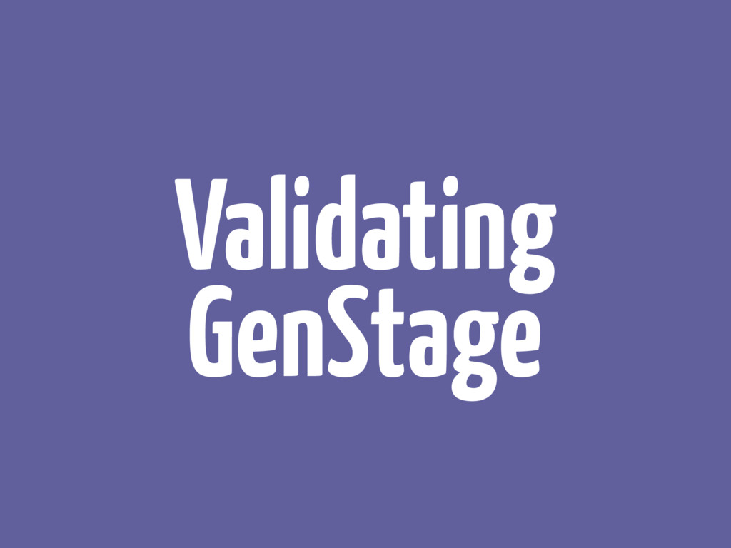 Validating GenStage
