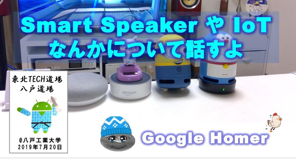 Google Homer Smart Speaker や IoT なんかについて話すよ