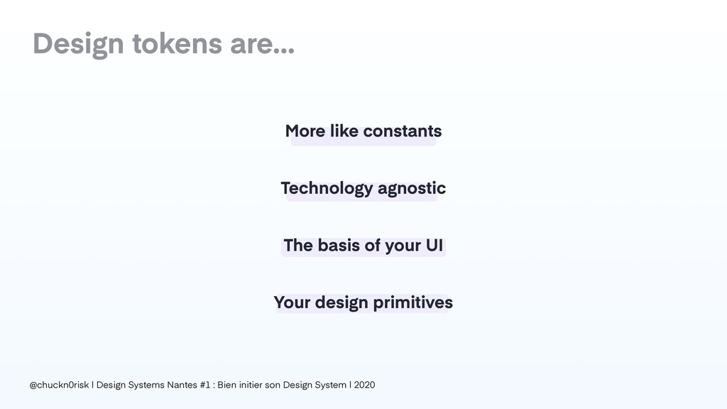 Your design primitives Design tokens are… More ...