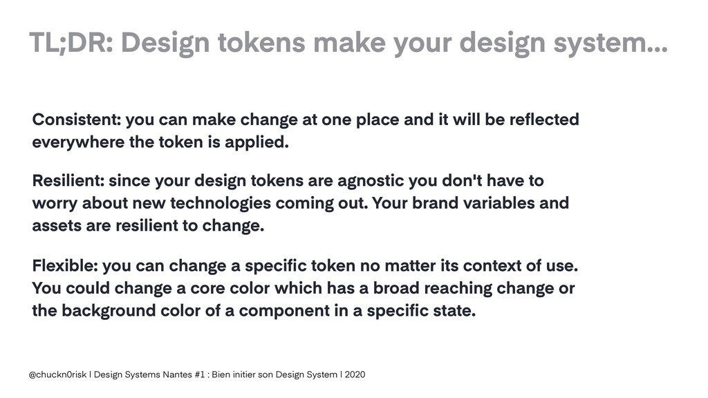 TL;DR: Design tokens make your design system… @...
