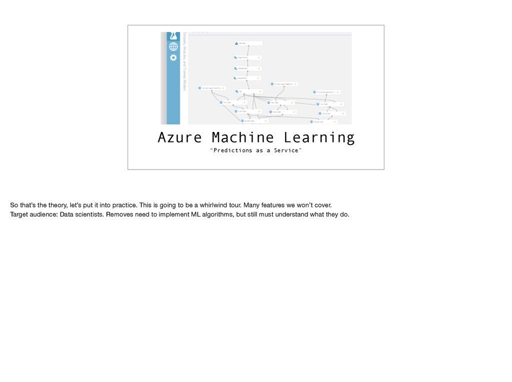 """Azure Machine Learning """"Predictions as a Servic..."""