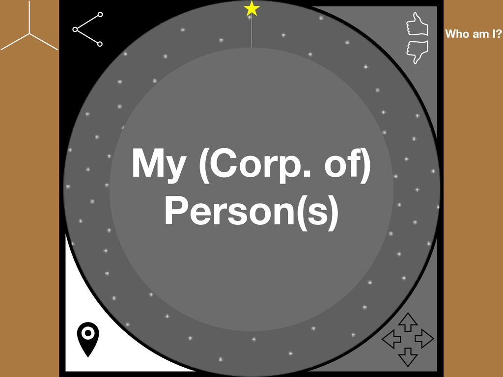 Who am I? My (Corp. of) Person(s)