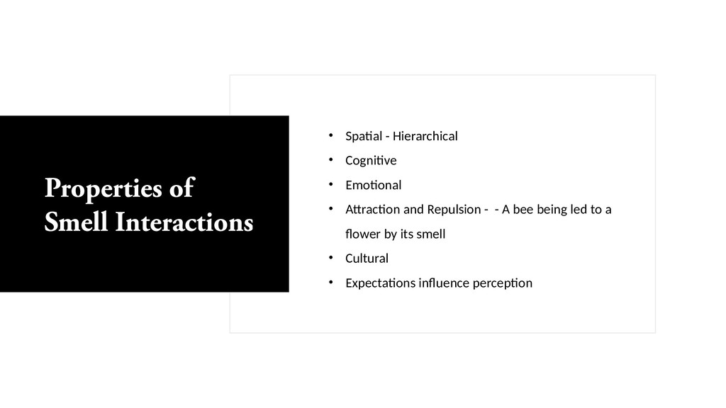• Spatial - Hierarchical • Cognitive • Emotiona...