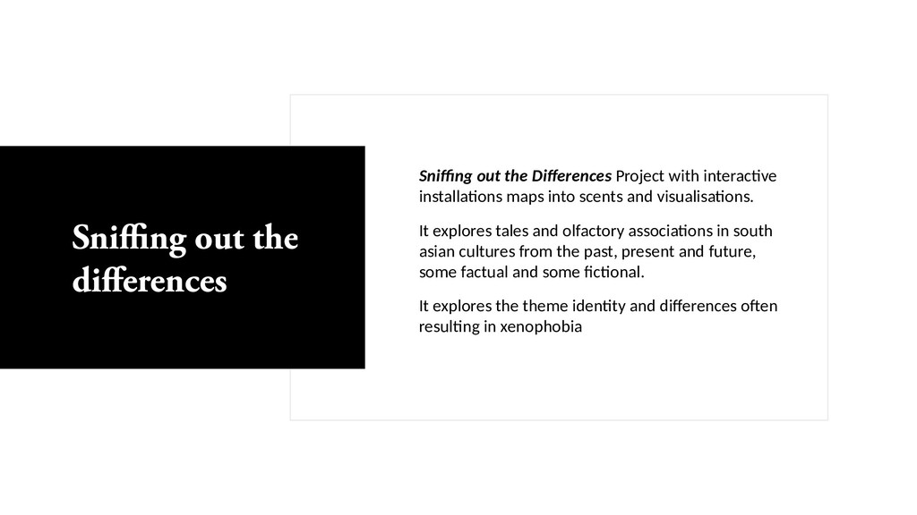 Sniffing out the Differences Project with inter...